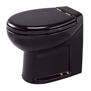 Thetford 38007 Tecma Silence Plus 1 Mode 12V RV Toilet with Wall Switch-High, Black/Gold