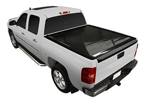 Retrax 20386 PowertraxONE Retractable Tonneau Cover One Piece Polycarbonate Construction w/Stake Pocket Cut Out Rails Electric Cover PowertraxONE Retractable Tonneau Cover