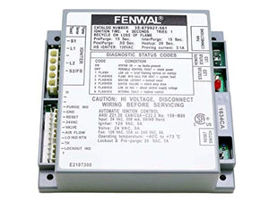 Fenwal 35-679927-561 Ignition Module 24 VAC Proven Hot Surface Ignition With Blower Relay. Same As Grainger 40LX29, Zoro G0115626, Teledyne Laars E2107300, Teledyne Laars RE2107300