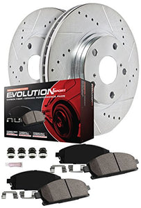 Power Stop K6415 Front & Rear Brake Kit with Drilled/Slotted Brake Rotors and Z23 Evolution Ceramic Brake Pads