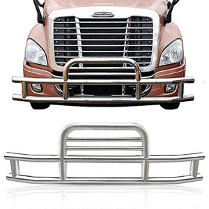 ISUNLIT Grille Guard Deer Bumper Guard for Freightliner Cascadia 2008-2017 with Brackets Set High Polished Stainless Steel