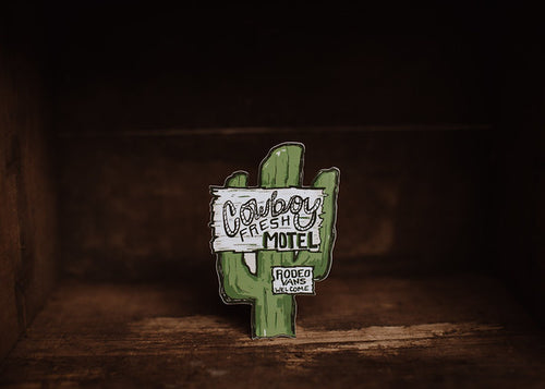 Cowboy Fresh Motel Sticker
