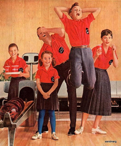 Vintage Family Bowling Ad