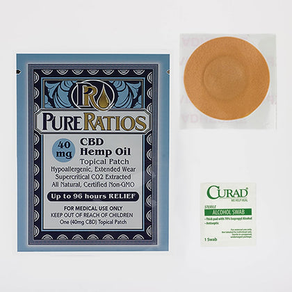 Pure Ratios – Hemp Patch (40mg CBD)