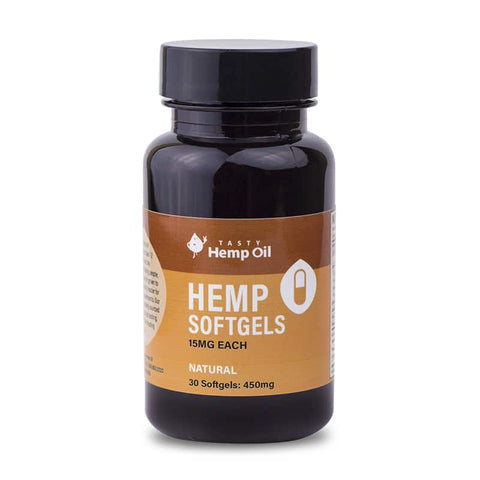 Tasty Hemp Oil – Hemp Softgels 30-Pack (450mg CBD)