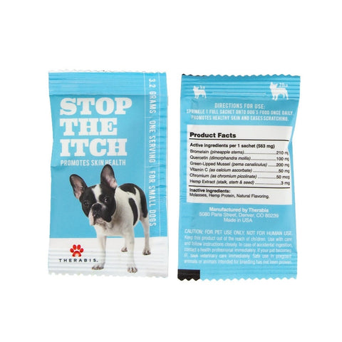 Therabis – Hemp Oil for Pets (Stop the Itch) - 7 Pack - Small dog (up to 20lbs)