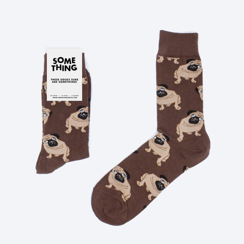 Brown Pugs Socks