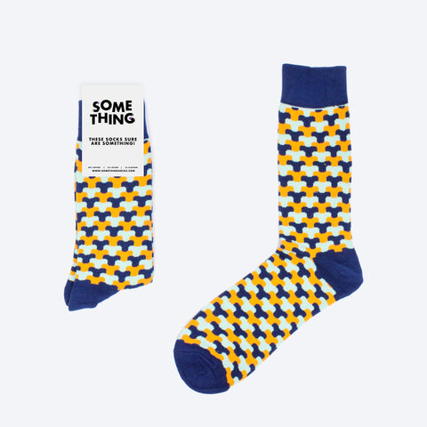 V Pattern Socks