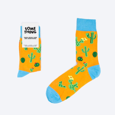 Orange Cactus Socks