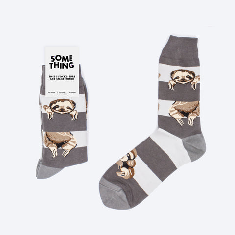 Grey Sloth Socks