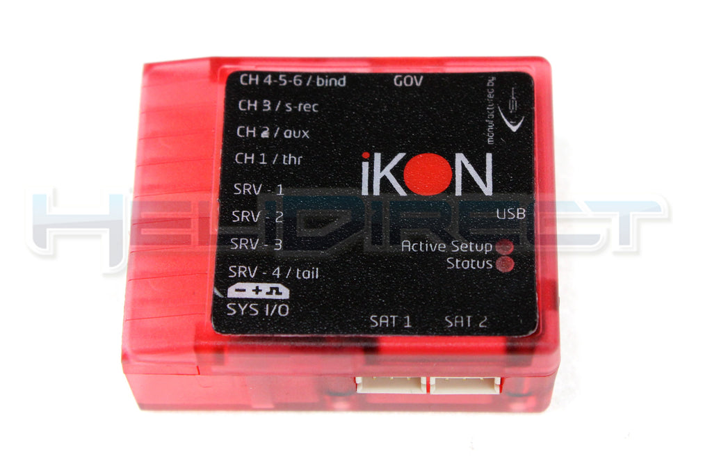 iKON Flybarless Clear Case - Red