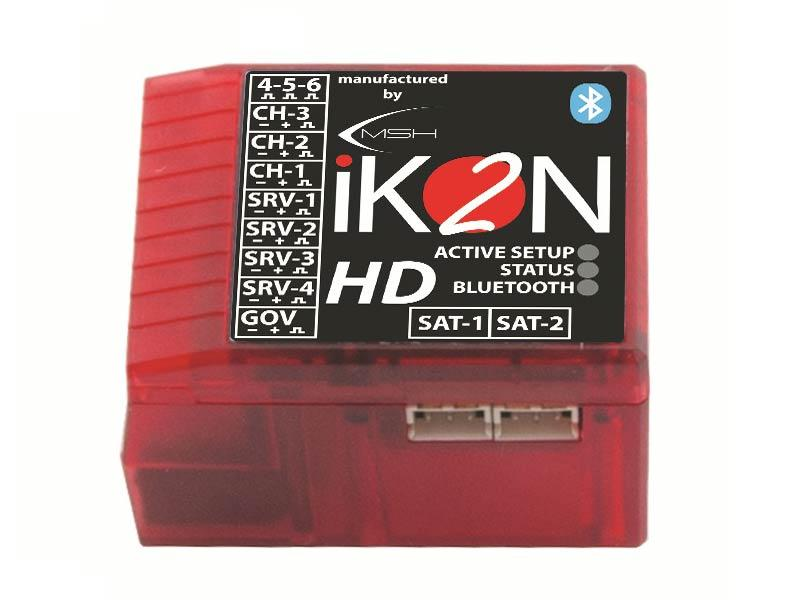 iKON2 HD Flybarless System with Integrated Bluetooth Module - Micro USB Cable Not Included