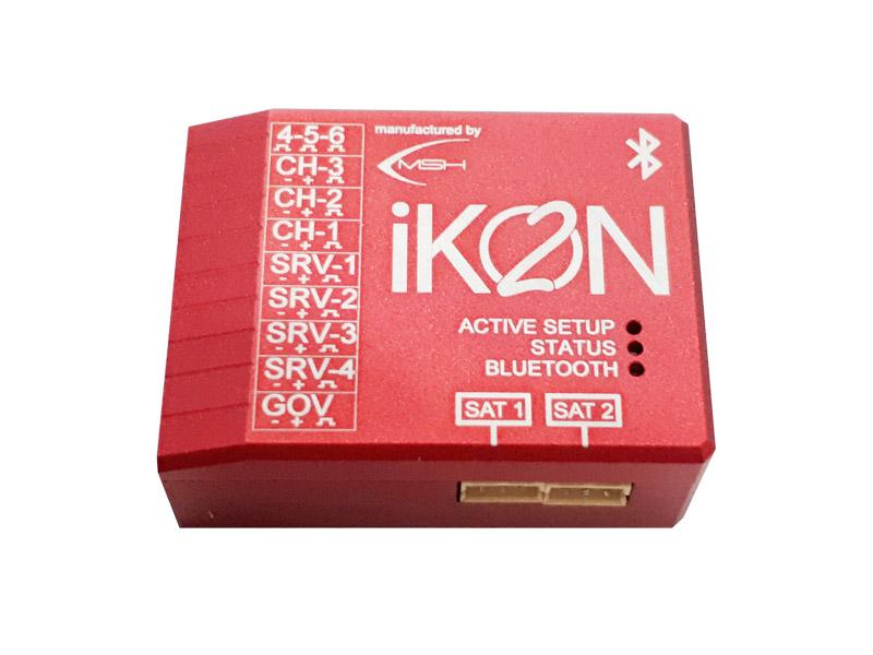 IKON2 Flybarless System with Integrated Bluetooth Module - Aluminum Version (Micro USB Cable Not Included)