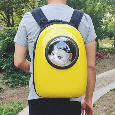 Glass Bubble Cat Backpack
