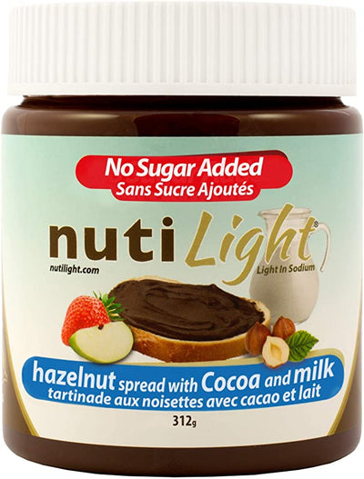 Nutilight - Hazelnut Spread with Cocoa and Milk