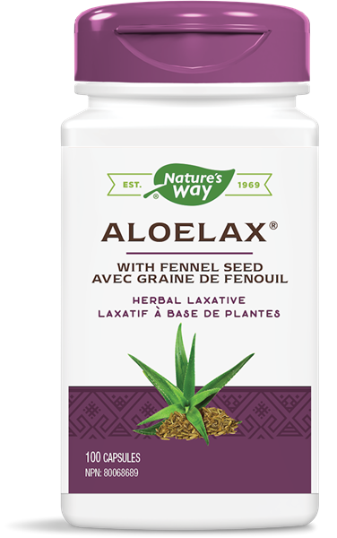 Aloelax with Fennel Seed - Herbal Laxative 100 capsules