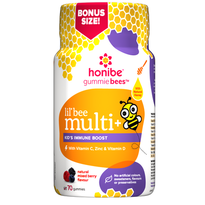 Kids Multivitamin + Immune Boost - 60 Honey Gummies