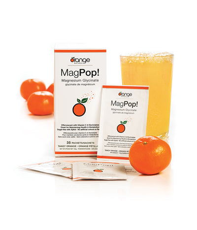 Mag Pop Magnesium Glycinate Effervescent Drink Mix - 35 Packets