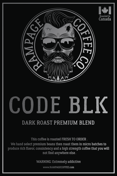 Code BLK Ground Coffee - Dark Roast 360 grams