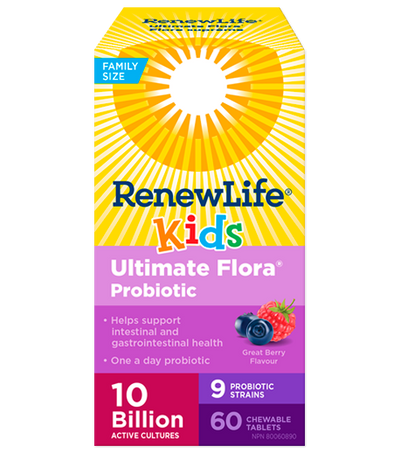 Ultimate Flora Kids Probiotics 10 Billion - 60 Chewable Tablets