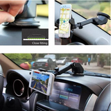 FULLY ADJUSTABLE UNIVERSAL CAR PHONE MOUNT