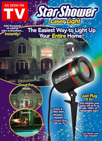 Christmas and Party Laser Light Shower (Wireless)