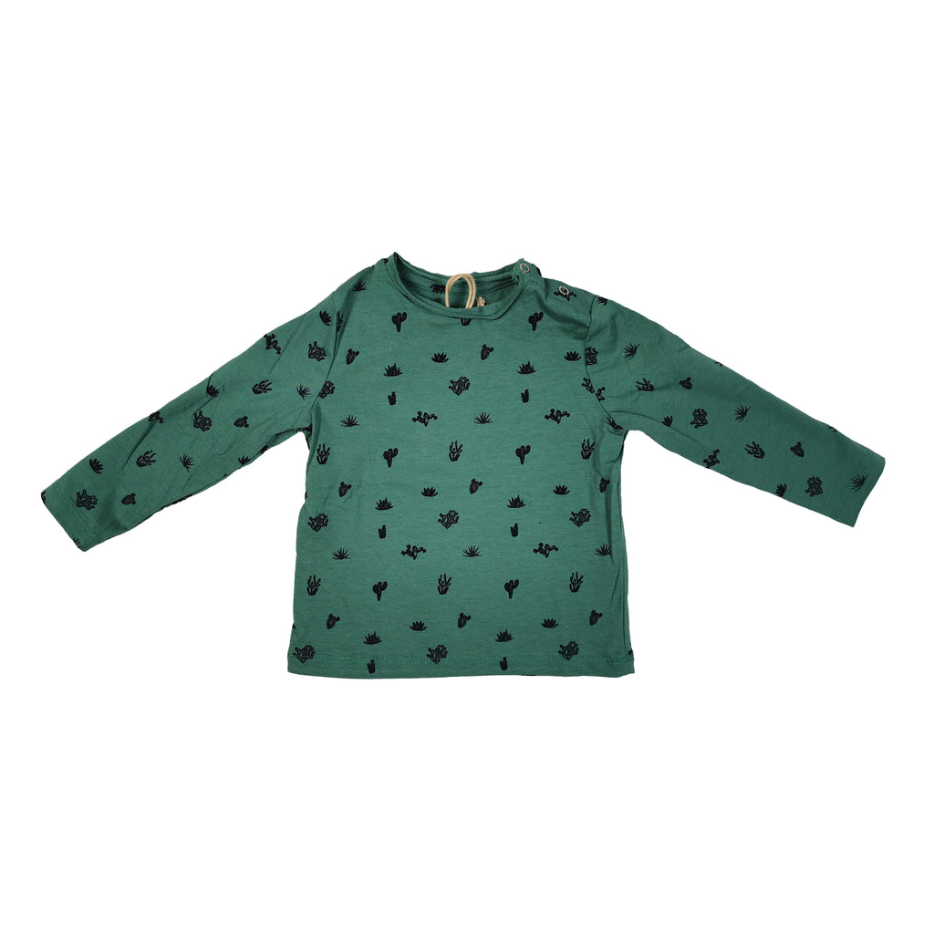 TOP LS - GREEN WITH CACTUS