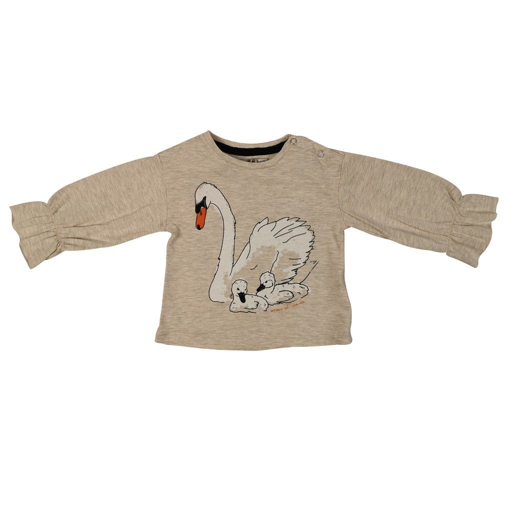 LIGHT BROWN SWAN LONG SLEEVE