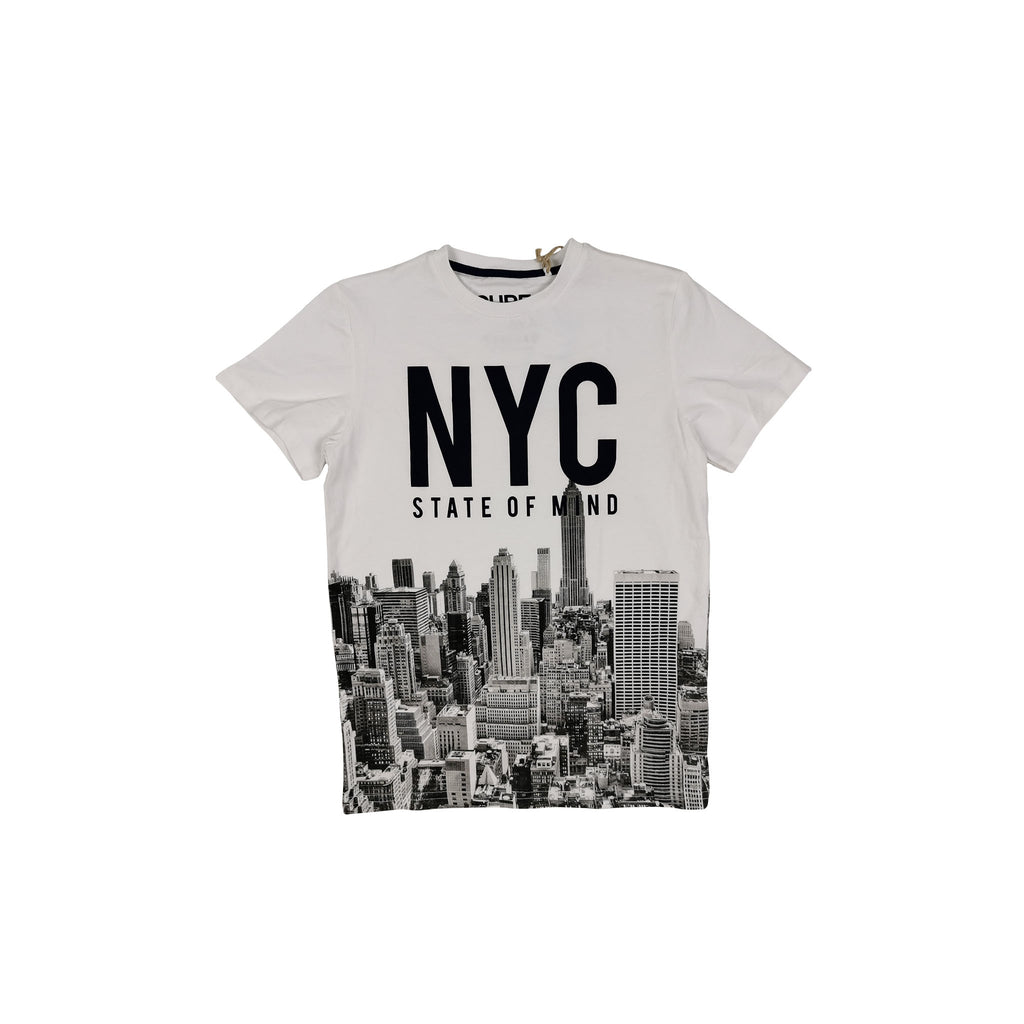 "T-SHIRT SS - WHITE ""NYC STATE OF MIND"""
