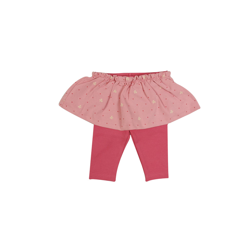 Pink Leggings With Skirt Trim