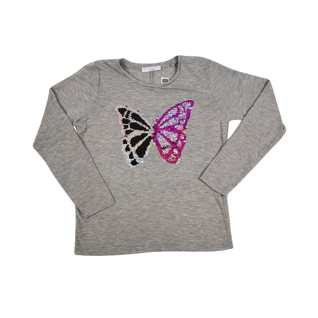 SEQUIN BUTTERFLY TEE