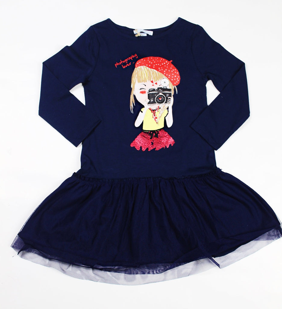 Camera Graphic Tutu Dress
