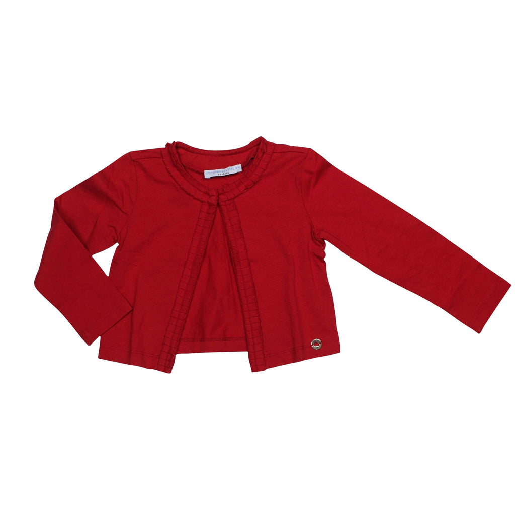 Jersey Cardigan- Red