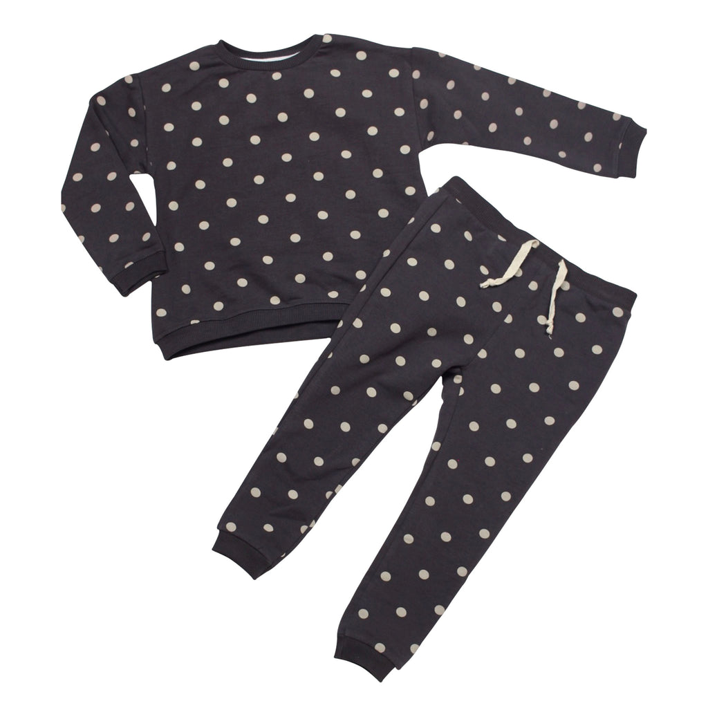 Polka Dots Sweatshirt & Joggers Set