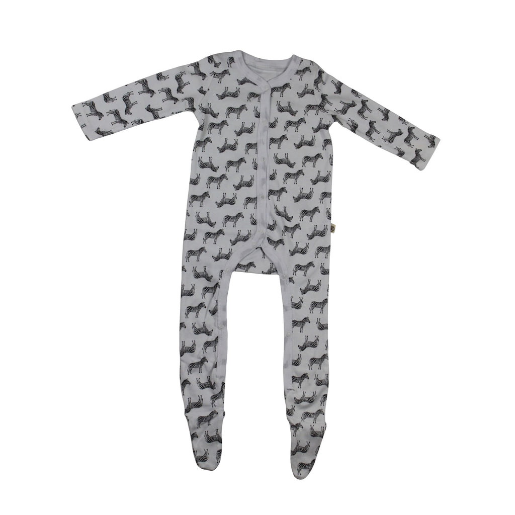 Katia & Bony Zebra Cotton Footed Sleeper