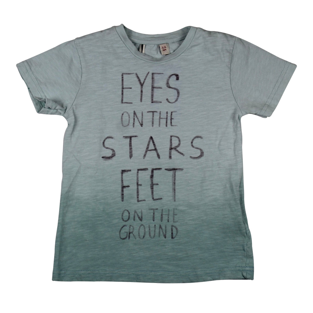 "Tshirt- Cyan ""EYES on the Stars Feet on the Ground"""