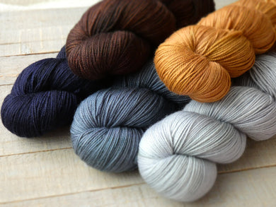 Autumn Frost set - Lavish MCN fingering - Fall for November yarns