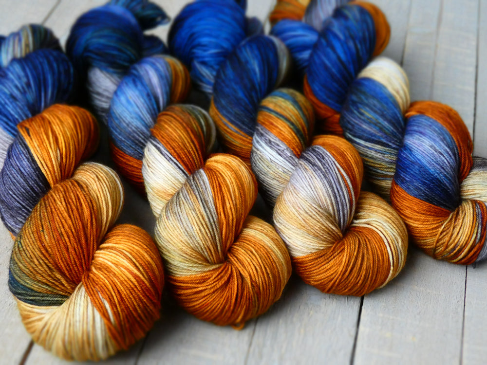 Fall Sunset - Vibrance collection - Timeless sock - Fall for November