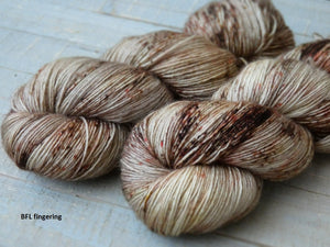 Hollow Birch - Vibrance collection - BFL fingering - Fall for November yarns