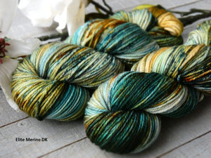 Rusty Sea - Vibrance collection - Elite Merino DK - Fall for November yarns