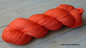 Tangy Peach - Purity collection - Elite Merino fingering - Fall for November yarns