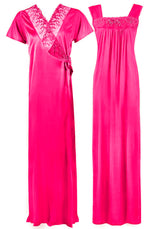 Load image into Gallery viewer, Satin Nighty With Dressing Gown / Robe