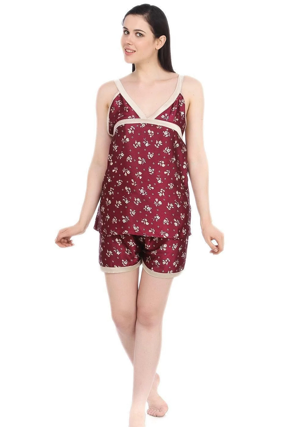 Fashion Women Top & Shorts Set [colour]- Hautie UK, #Nightfashion | #Underfashion