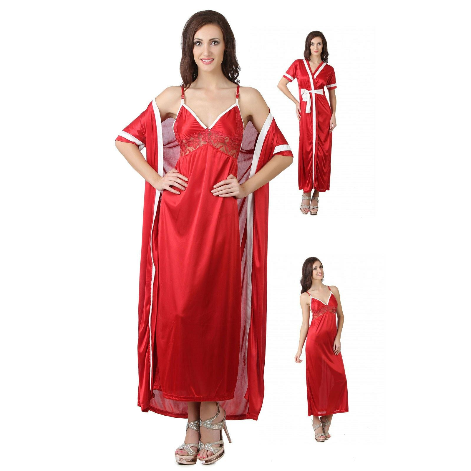 Women Nighty with Robe [colour]- Hautie UK, #Nightfashion | #Underfashion