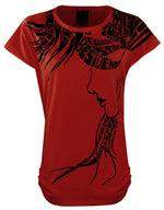 Load image into Gallery viewer, Ladies Girls Cap Sleeve Printed T-Shirt [colour]- Hautie UK, #Nightfashion | #Underfashion