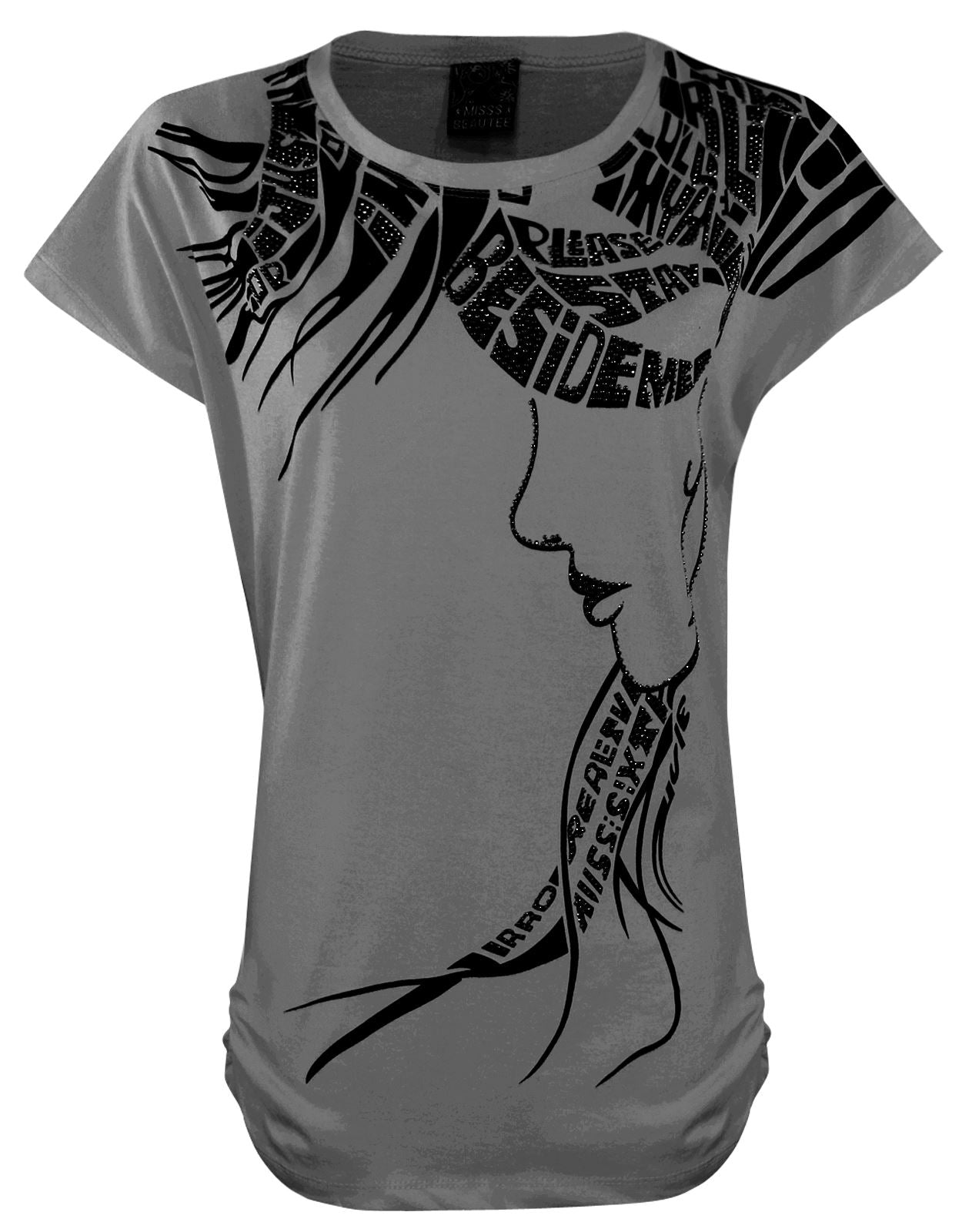 Ladies Girls Cap Sleeve Printed T-Shirt [colour]- Hautie UK, #Nightfashion | #Underfashion