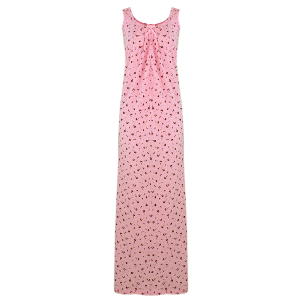 Cotton Nighty Slip Heart Print / Plain Night Gown Free Size [colour]- Hautie UK, #Nightfashion | #Underfashion