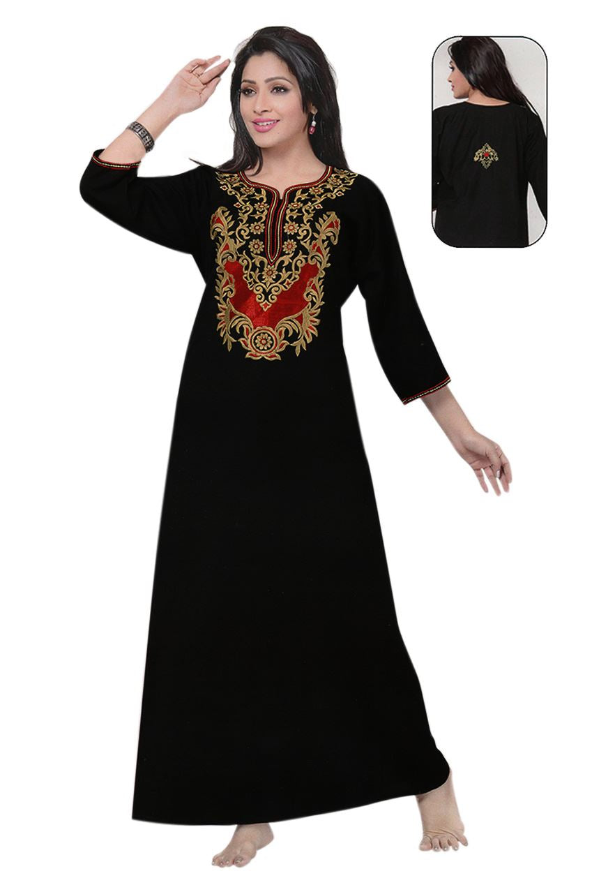 Designer Ladies Embroidered Nighty - Hautie Nightfashion