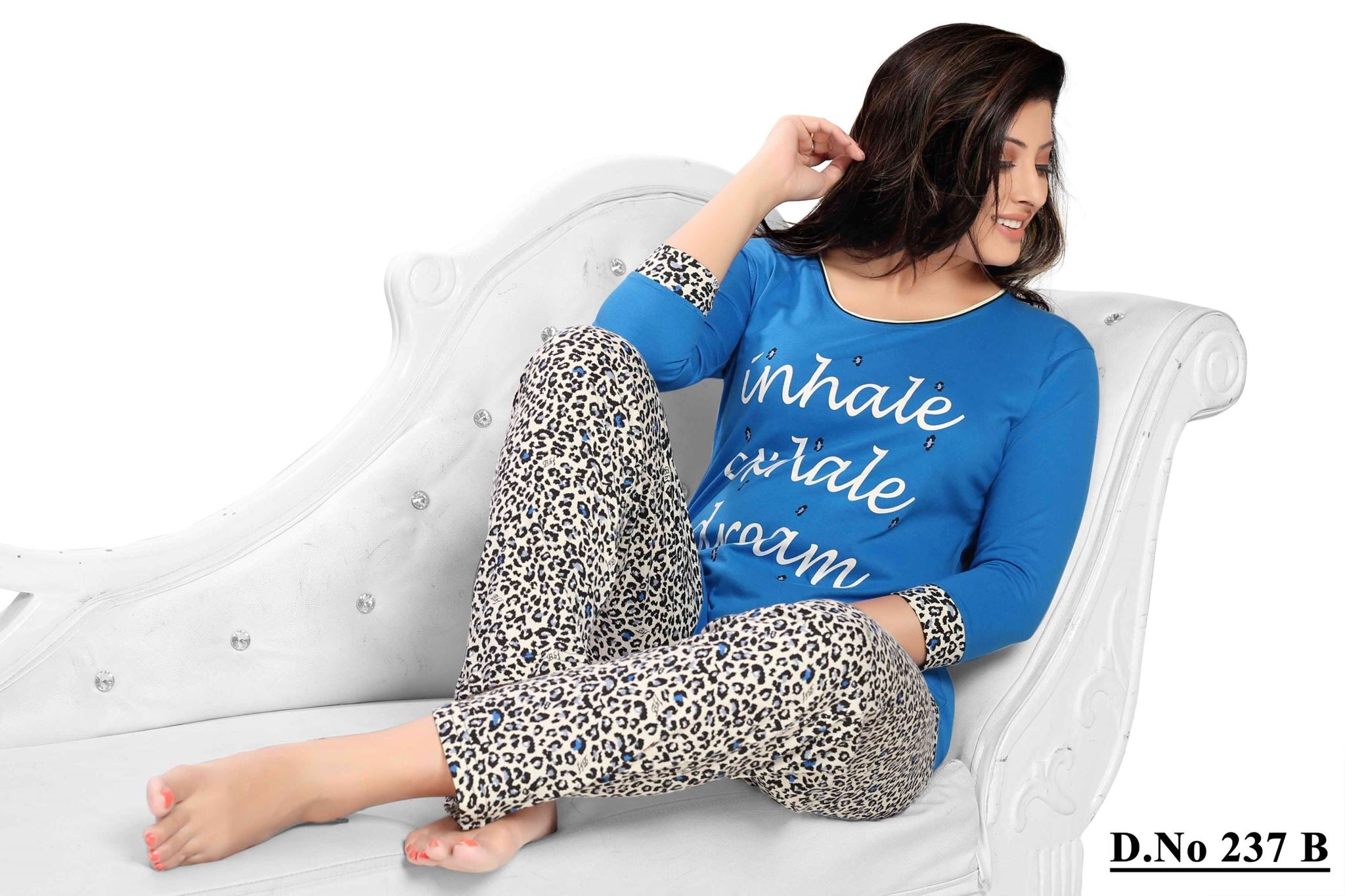 INHALE EXHALE DREAM PJ Set Long Sleeve Top Nightwear [colour]- Hautie UK, #Nightfashion | #Underfashion