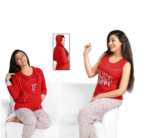 JUST HAPPY 3 Pcs Tracksuit [colour]- Hautie UK, #Nightfashion | #Underfashion
